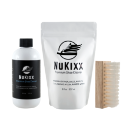 NuKixx Ultimate Cleaner Kit with 8oz shoe cleaner and standard brush
